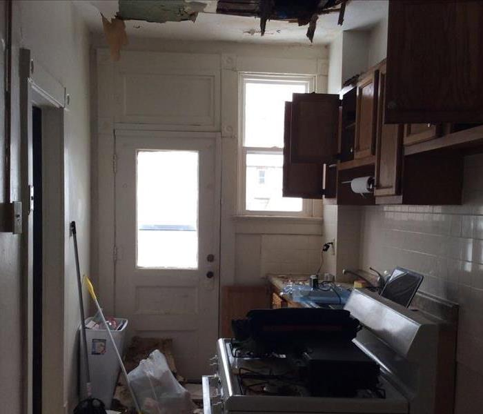 Columbus, Ohio Home Has a Pipe Burst Leaving a Hole in the Ceiling